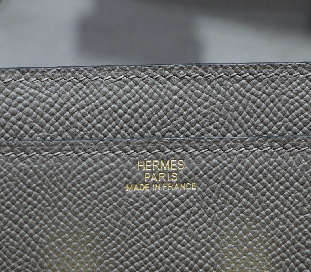Hermès(爱马仕)Constance 空姐包 ToGo 锡器灰 Epsom 金扣 全手缝