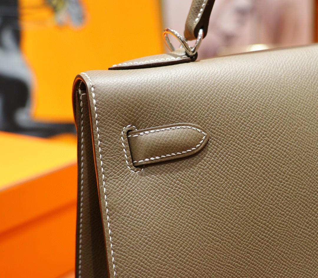 Hermès(爱马仕)Kelly 凯莉包 大象灰 Epsom 全手缝 银扣 32cm