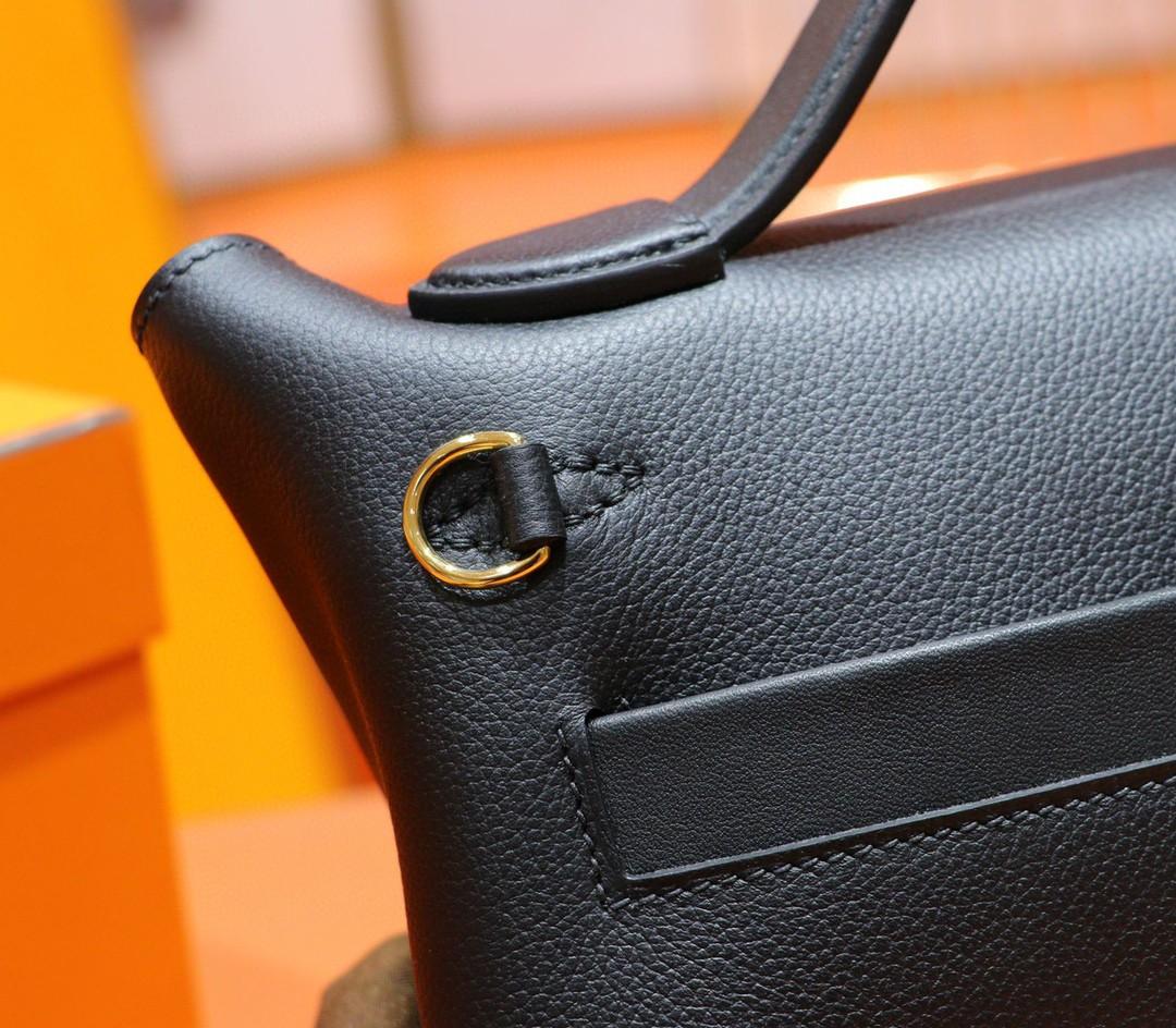 Hermès(爱马仕)Mini kelly 2424 黑色 evercolor 金扣 21cm