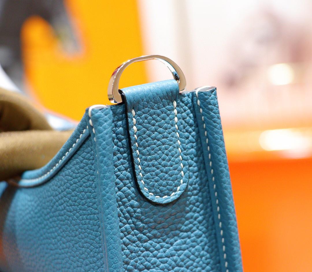 Hermès(爱马仕)Evelyne 伊芙琳 牛仔蓝 Togo 小牛皮 银扣 28cm