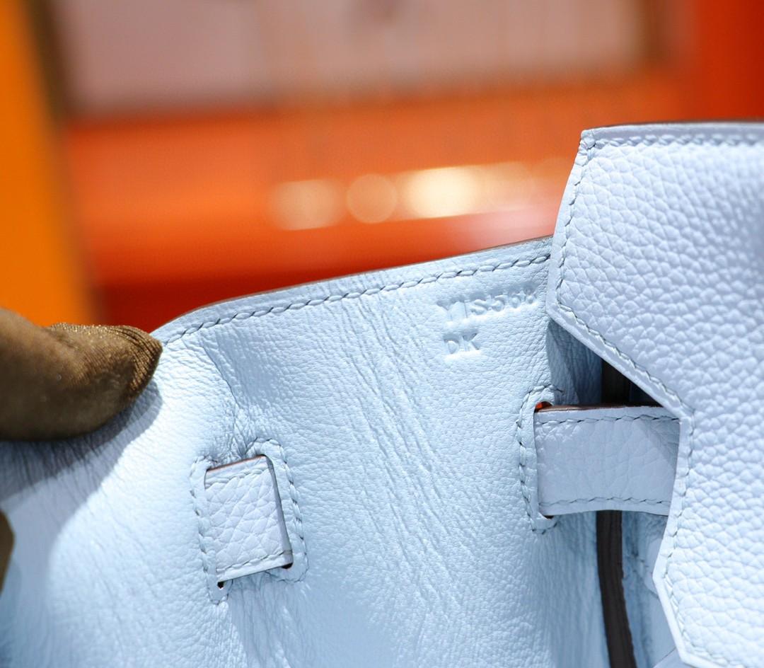 Hermès(爱马仕)Birkin 铂金包 微风蓝Togo 全手缝 金扣 30cm