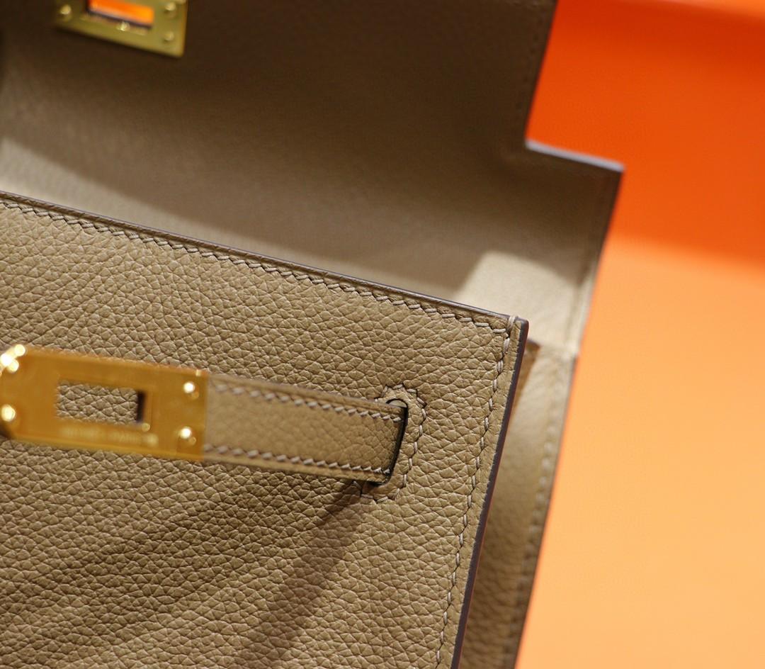 Hermès(爱马仕)Kelly Dance 威犬玛米色 Evercolor 全手缝 金扣