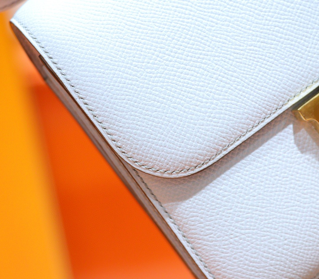Hermès(爱马仕)Constance 雾霾蓝 Espom 全手缝 小牛皮 金扣 19cm