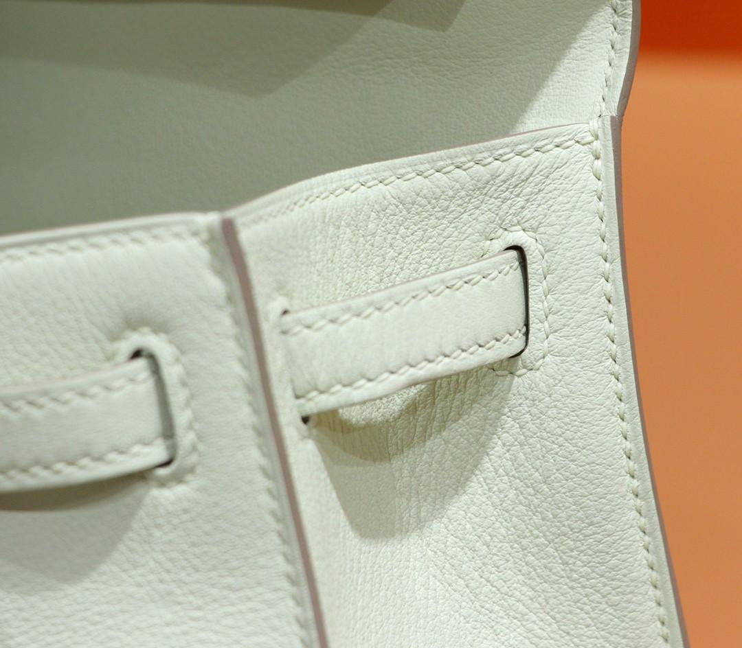Hermès(爱马仕)Minikelly 迷你凯莉 奶昔白 Swift 金扣 一代
