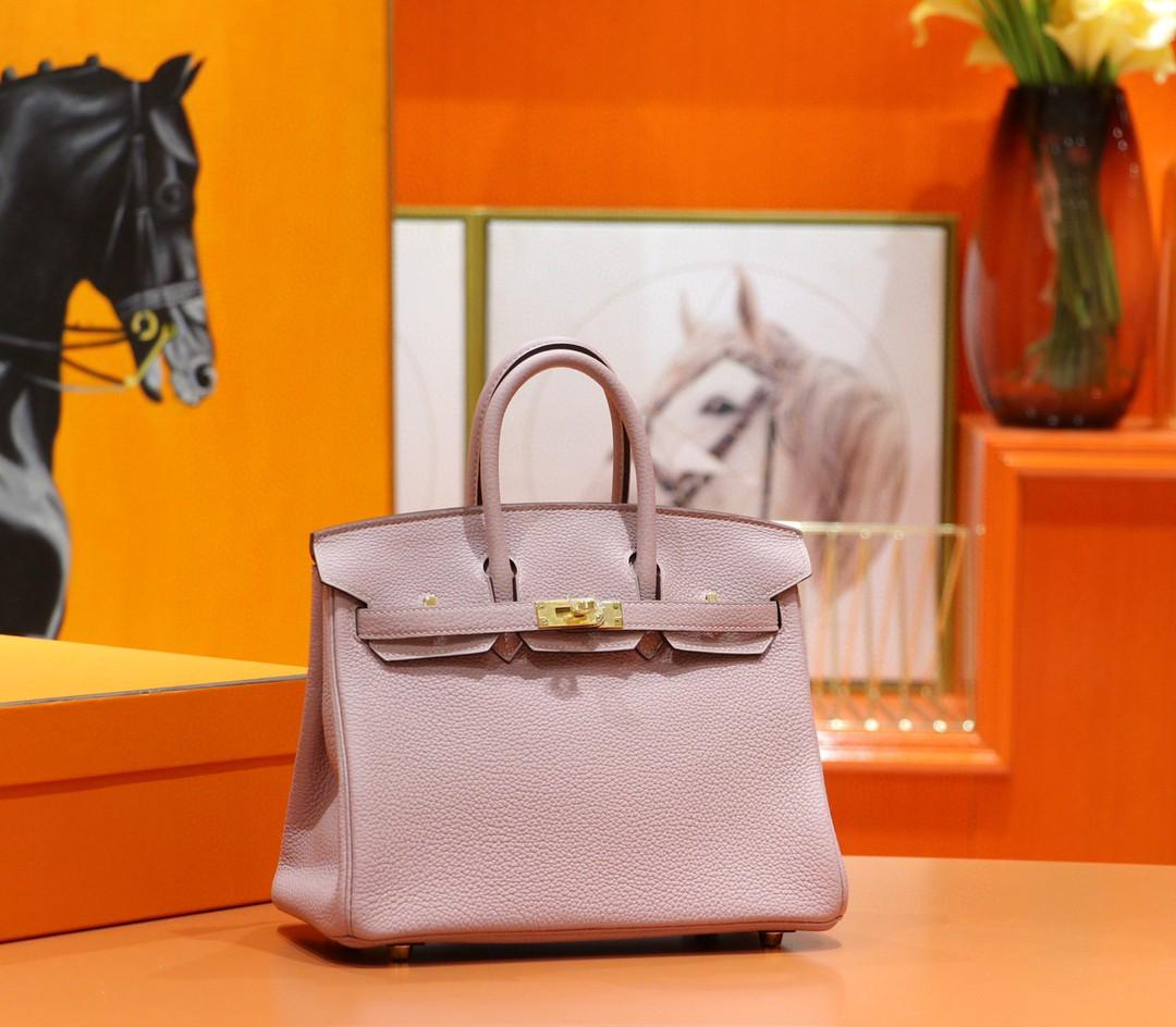 Hermès(爱马仕)Birkin 铂金包 紫藤色 Togo 全手缝 小牛皮 金扣 25cm