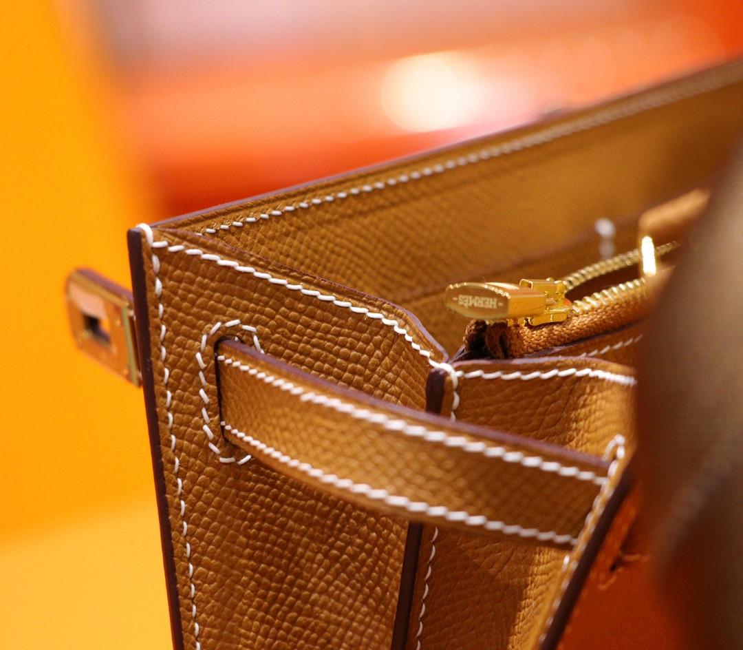 Hermès(爱马仕)Kelly Togo 金棕 Epsom 全手缝 小牛皮 金扣