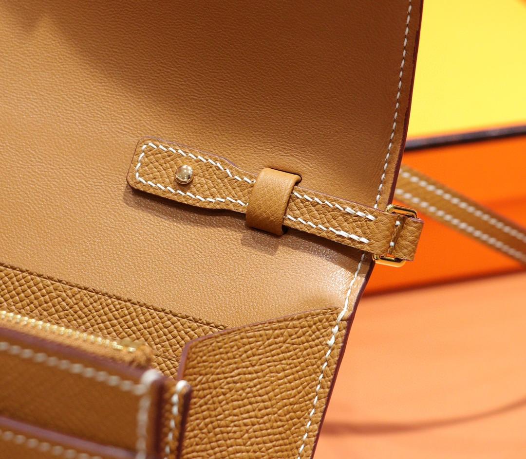 Hermès(爱马仕)Constance 空姐包 ToGo 金棕色 Epsom 金扣 全手缝