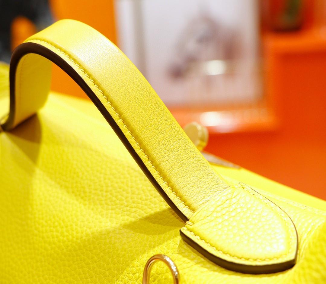 Hermès(爱马仕)H2424 琥珀黄 Evercolor拼Swift 全手缝 小牛皮 金扣