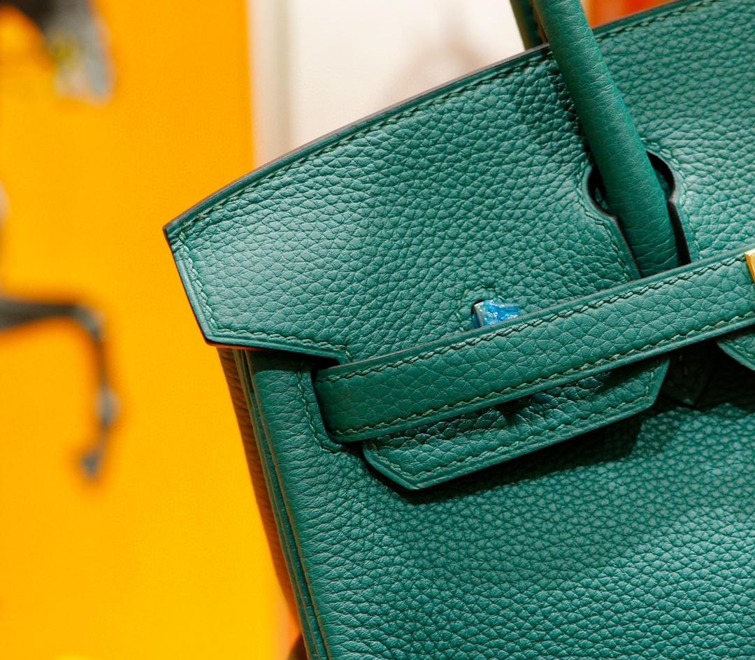 Hermès(爱马仕)Birkin 铂金包 祖母绿 togo 全手缝 小牛皮 金扣 25cm