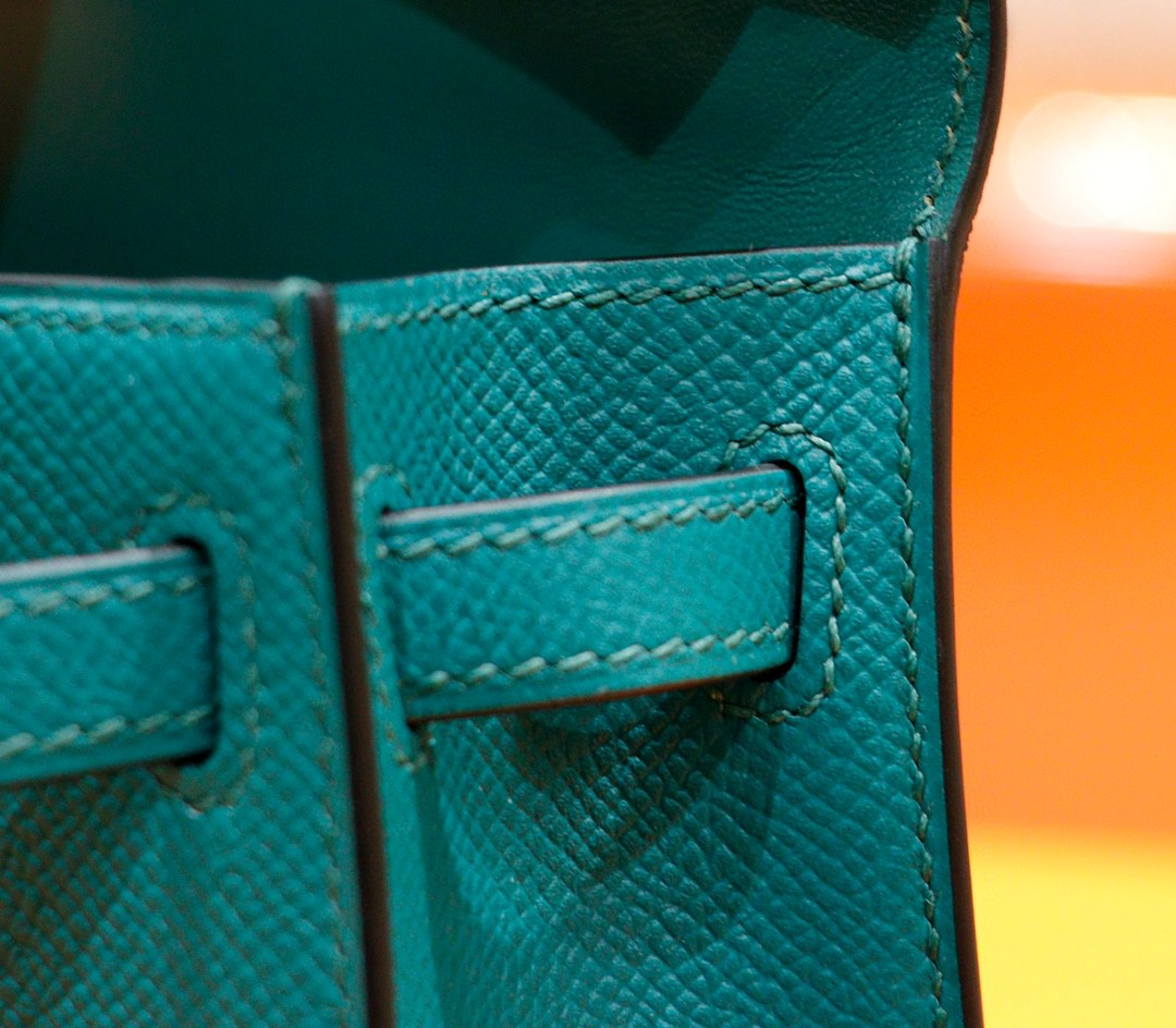 Hermès(爱马仕)Minikelly 迷你凯莉 孔雀绿 Epsom 全手缝 小牛皮 金扣 2代