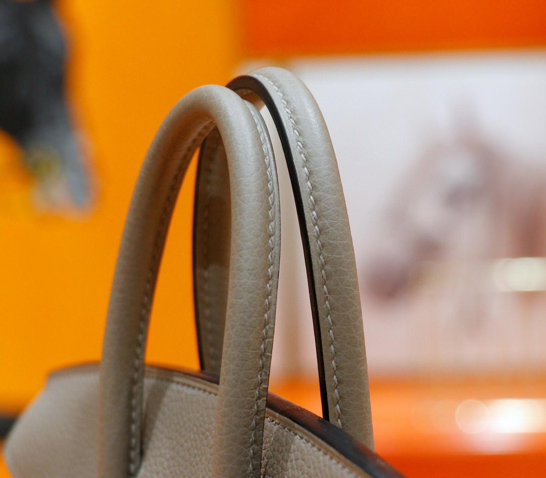 Hermès(爱马仕)Birkin 铂金包 沥青灰 togo 全手缝小牛皮 银扣 25cm