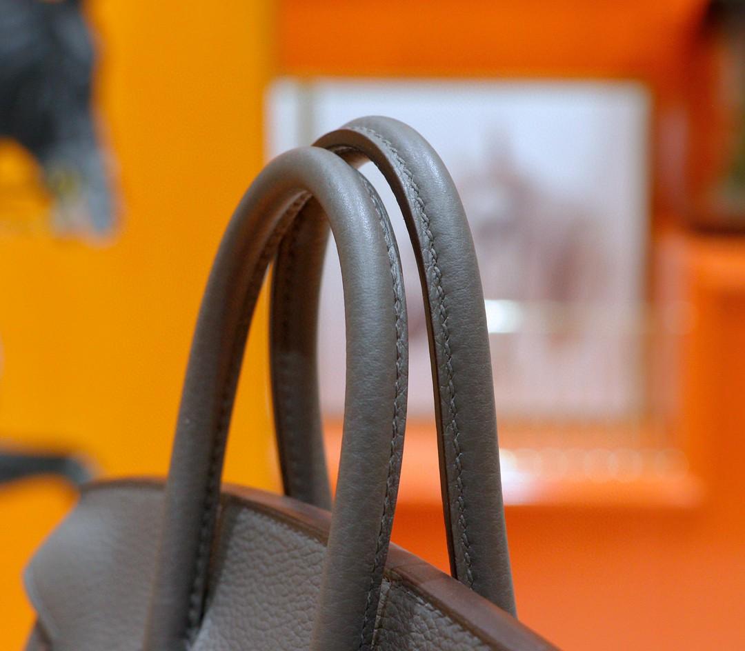 Hermès(爱马仕)Birkin 铂金包 锡器灰 Togo 全手缝 小牛皮 银扣 25cm