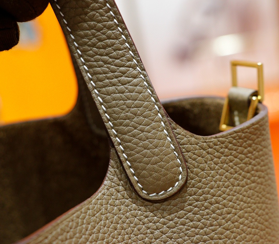 Hermès(爱马仕)Picotin 菜篮子大象灰 togo 全手缝小牛皮 金扣 18cm