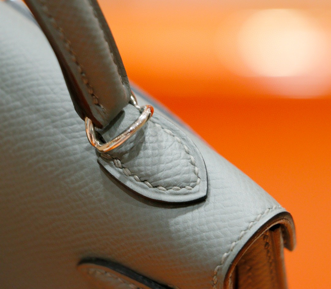 Hermès(爱马仕)Minikelly 2代 杏仁绿 Epsom 全手缝 小牛皮 银扣