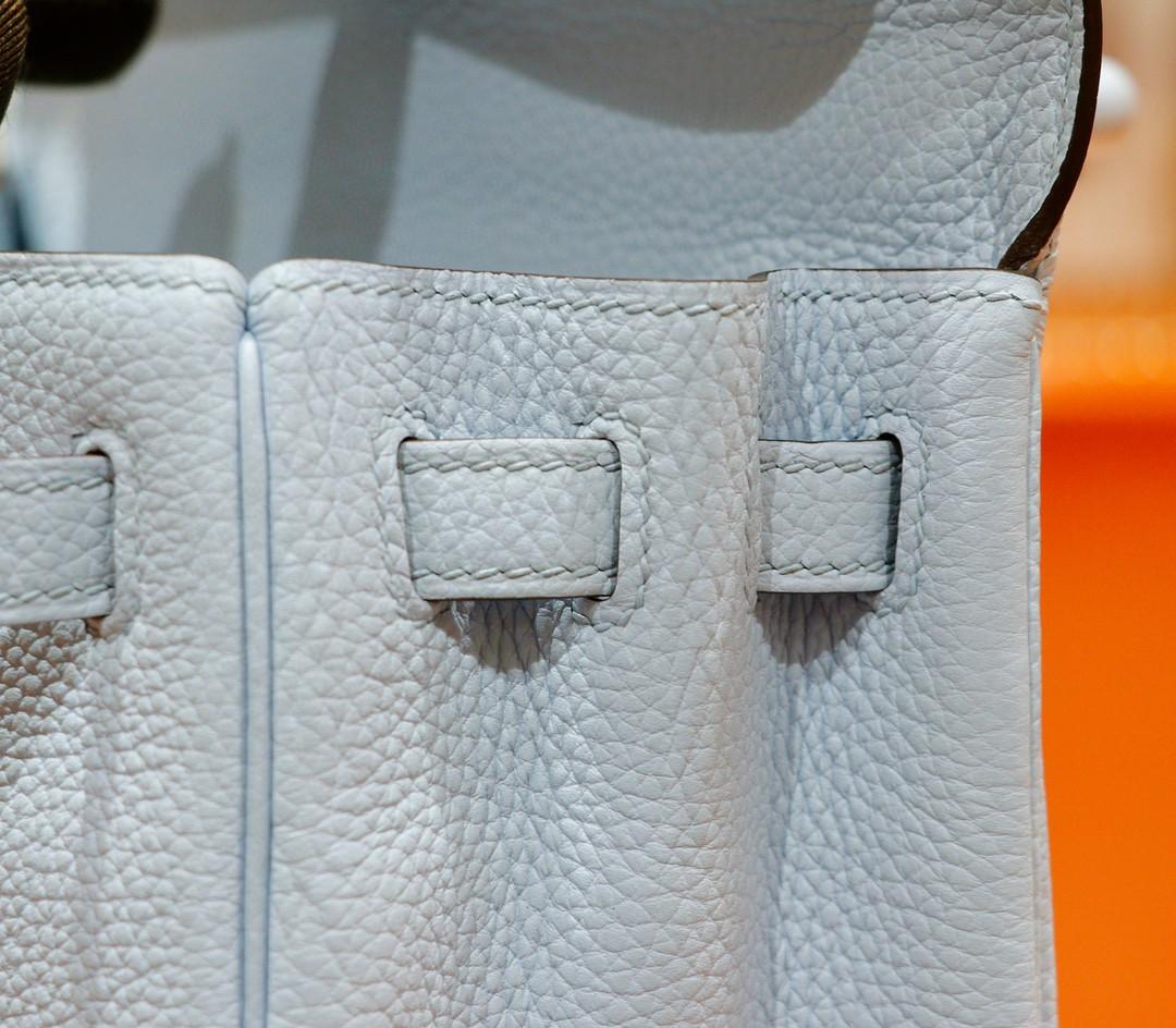 Hermès(爱马仕)Kelly 凯莉包 雾霾蓝 togo 全手缝 小牛皮 银扣 25cm