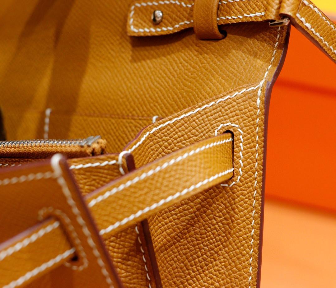 Hermès(爱马仕)Kelly togo 金棕色 Epsom 银扣 全手缝