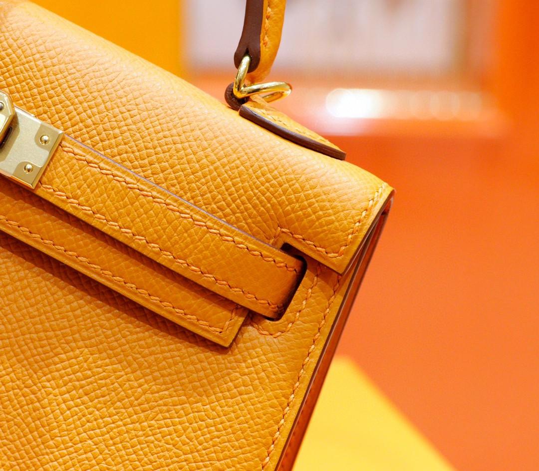 Hermès(爱马仕)Minikelly 2代 太阳黄 Epsom 小牛皮 全手缝 金扣