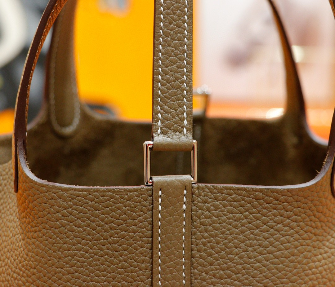 Hermès(爱马仕)Picotin 菜篮包 大象灰 Togo 全手缝 银扣 18cm