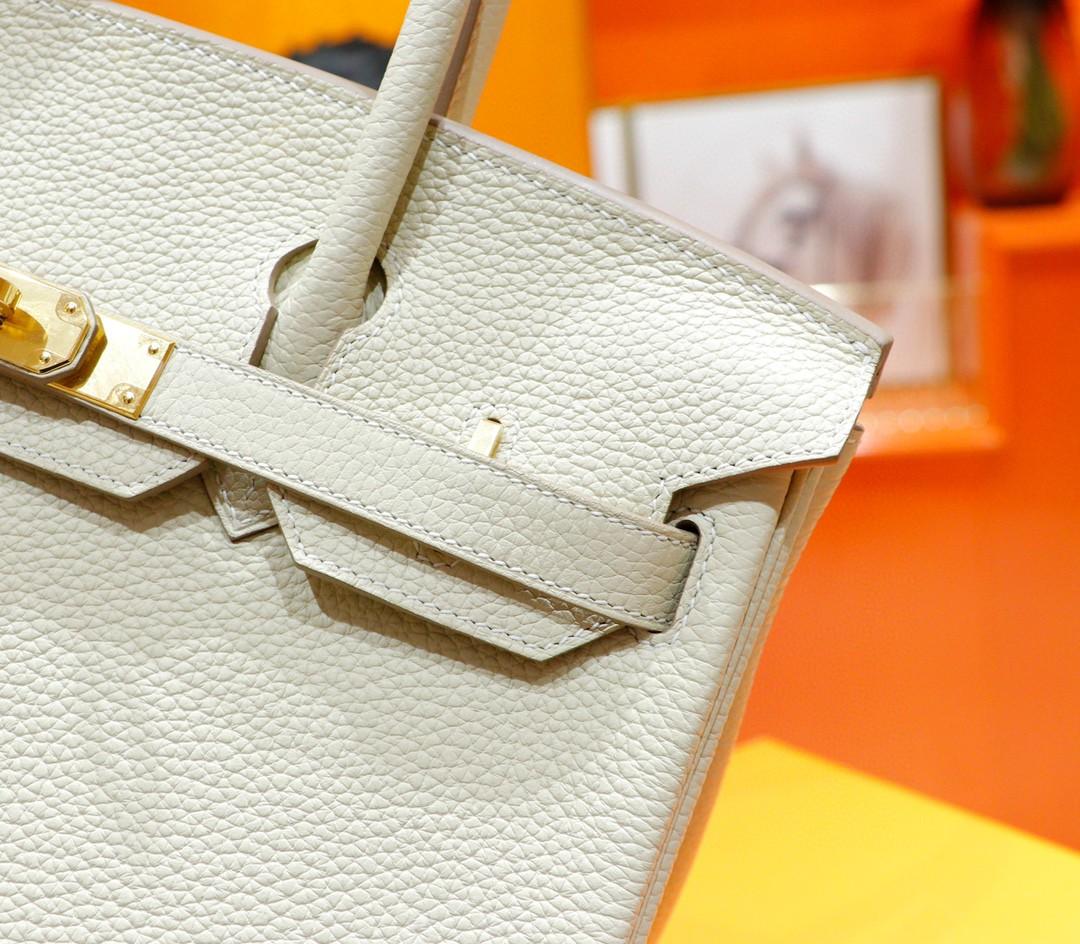 Hermès(爱马仕)Birkin 铂金包 奶昔白 togo 全手缝 小牛皮 金扣 30cm