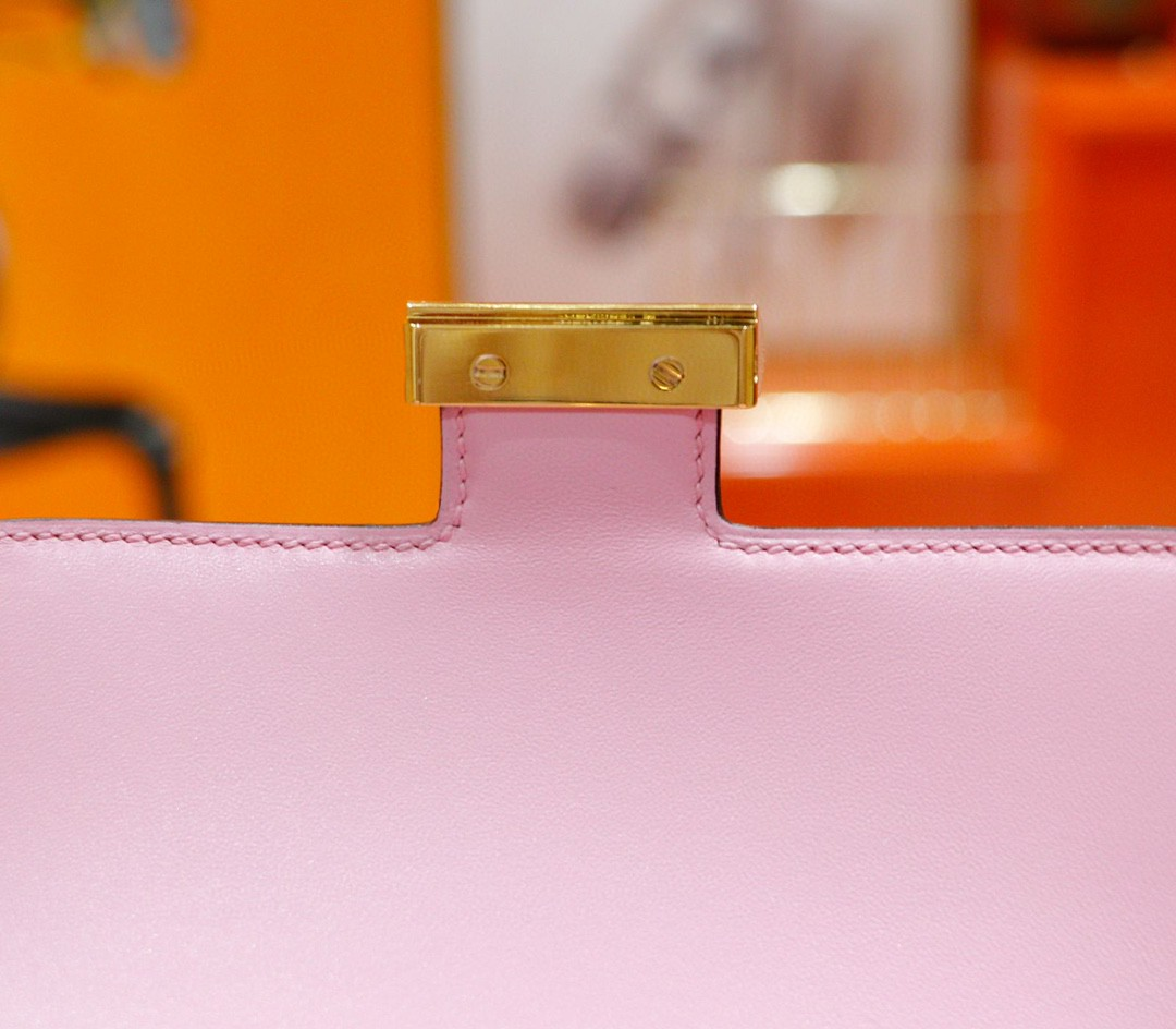 Hermès(爱马仕)Constance 空姐包 锦葵紫 Epsom 全手缝 小牛皮 金扣 19cm