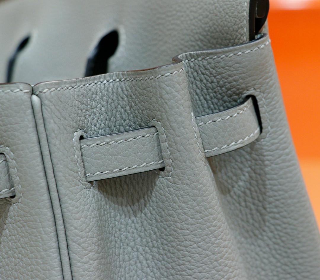 Hermès(爱马仕)Birkin 铂金包 海鸥灰 togo 小牛皮 全手缝 金扣 25cm