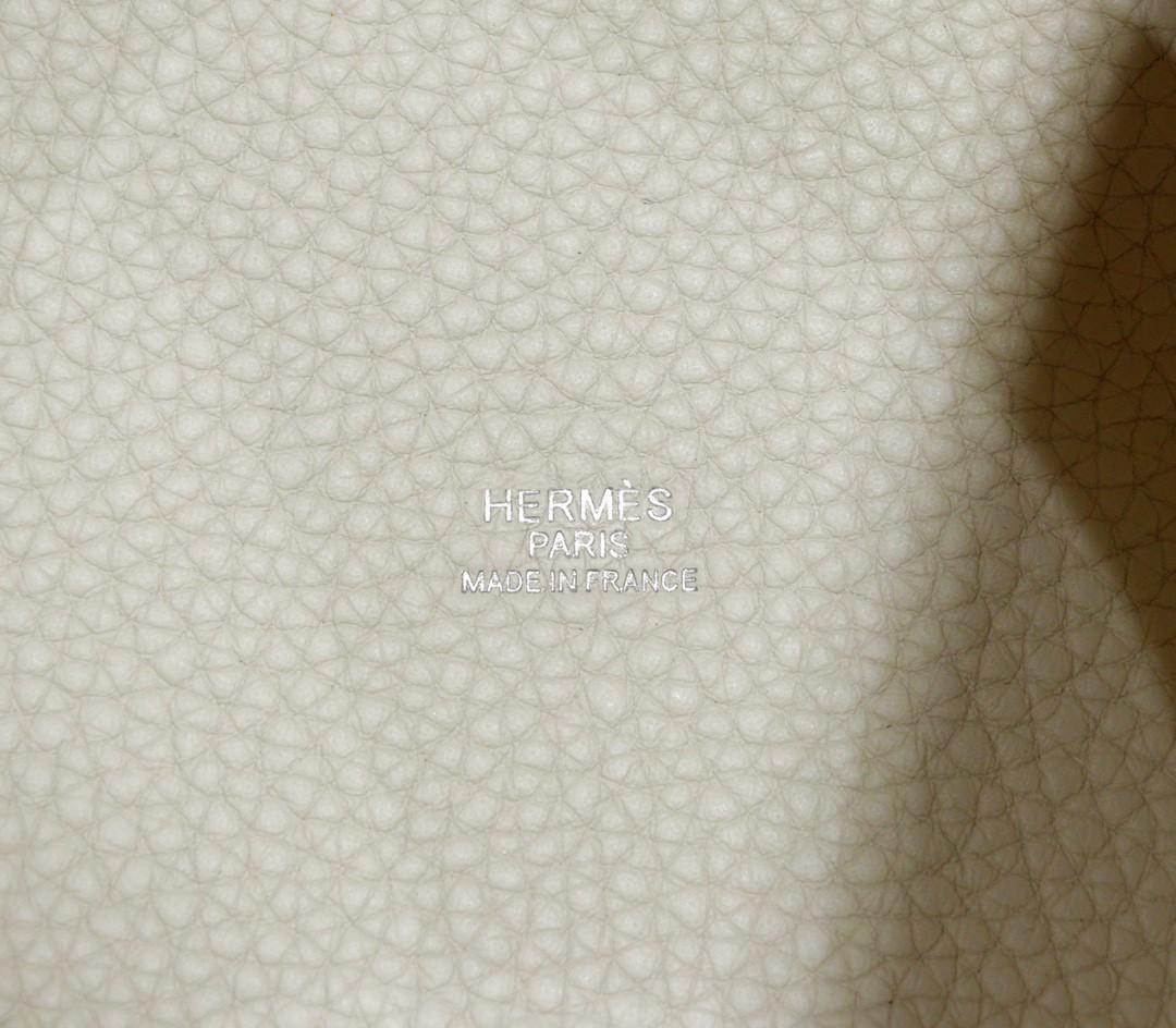 Hermès(爱马仕)Picotin 菜篮子 奶昔白 togo 全手缝 小牛皮 银扣 18cm