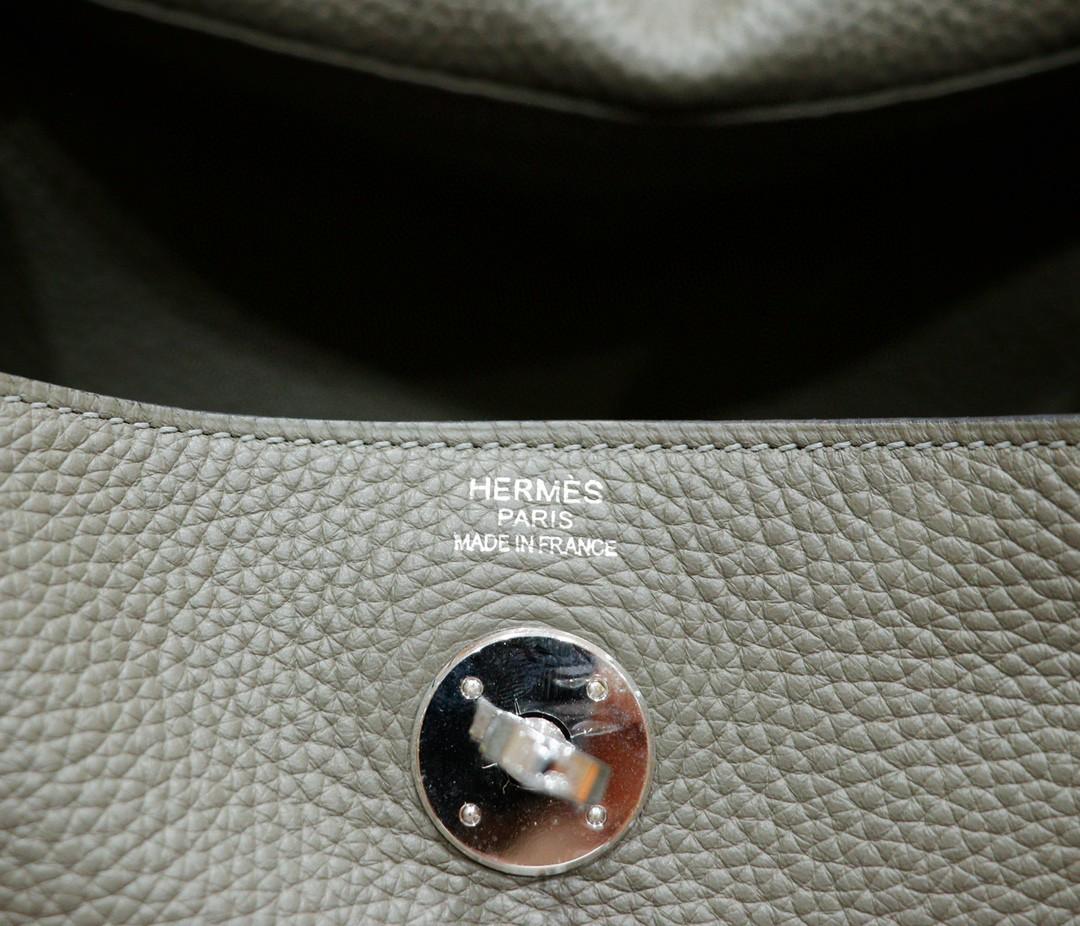 Hermès(爱马仕)Lindy 琳迪包 锡器灰 Togo 全手缝 银扣 30cm