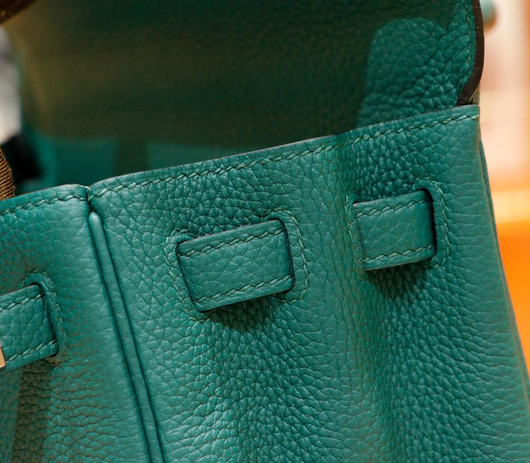 Hermès(爱马仕)Kelly 凯莉包 祖母绿 Togo 全手缝 小牛皮 银扣 25cm