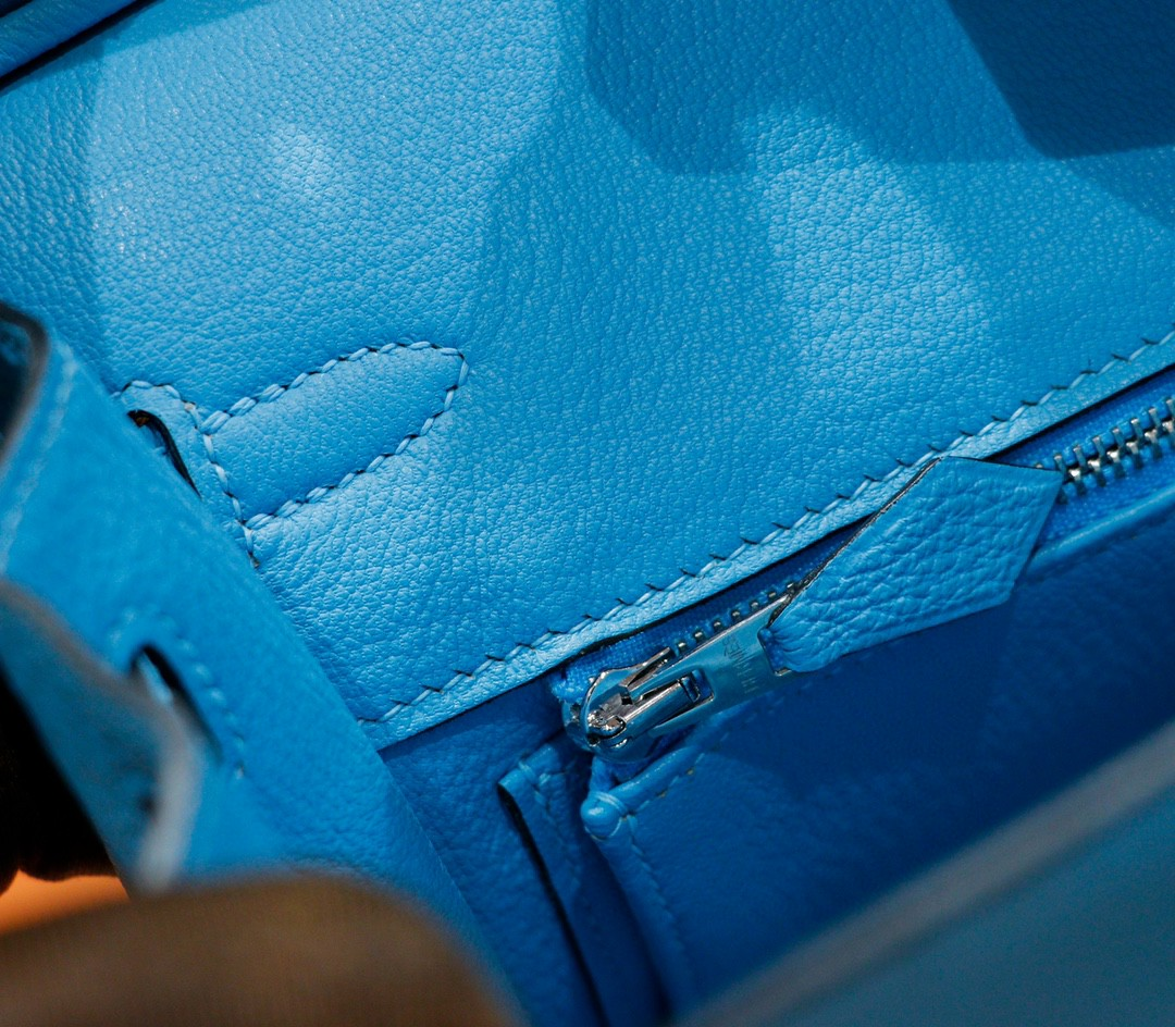 Hermès(爱马仕)Birkin 铂金包 北方蓝 Togo 全手缝 小牛皮 银扣 25cm