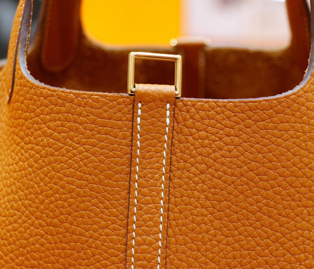 Hermès(爱马仕)Picotin 菜篮子 金棕色 Togo 全手缝 金扣 18cm