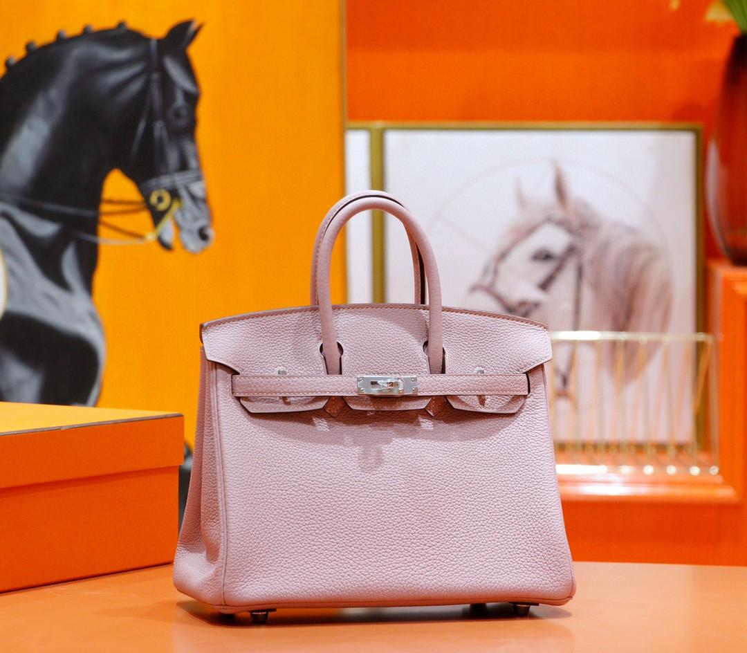 Hermès(爱马仕)Birkin 铂金包 紫藤色 Togo小牛皮 全手缝 银扣 25cm