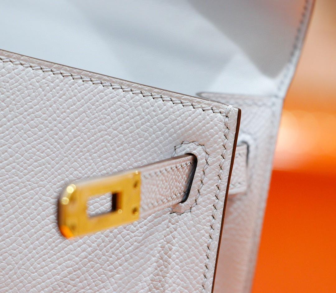Hermès(爱马仕)Minikelly 迷你凯莉 雾霾蓝 Epsom 全手缝 小牛皮 金扣 2代