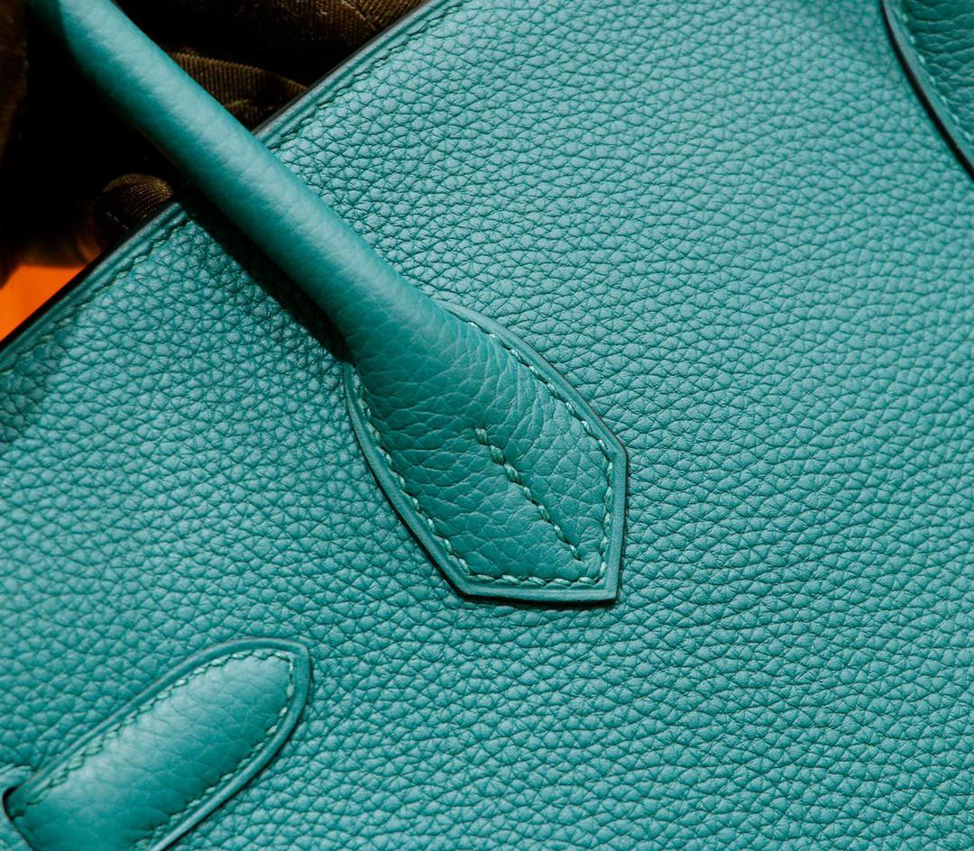 Hermès(爱马仕)Birkin 铂金包 祖母绿 togo 小牛皮 全手缝 银扣 30cm