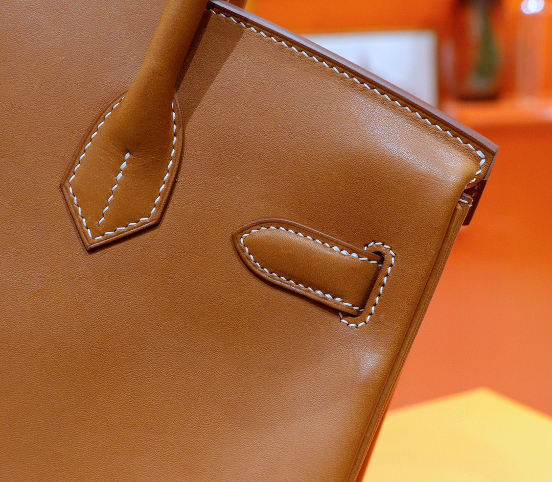 Hermès(爱马仕)Birkin 铂金包 金棕 全手缝 马鞍皮 金扣 30cm
