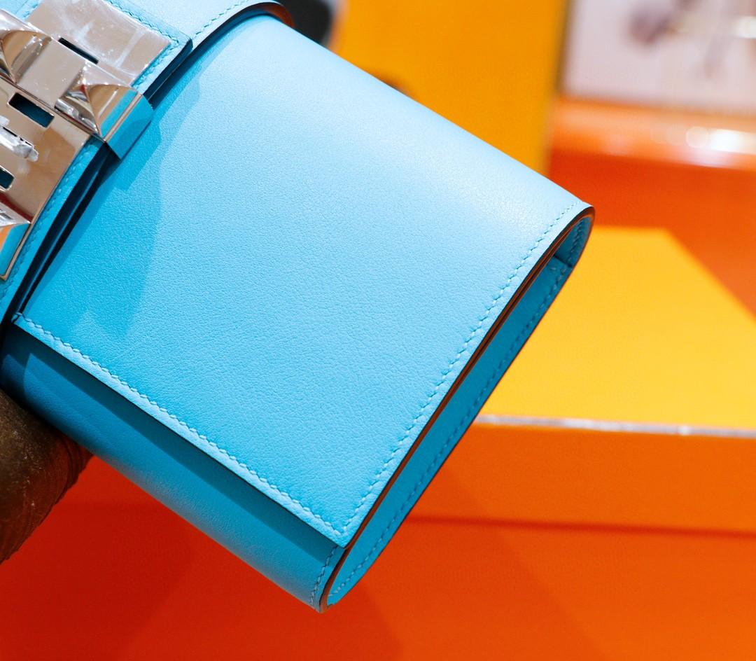 Hermès(爱马仕)CDC 晚宴手包 北方蓝 Swift 银扣