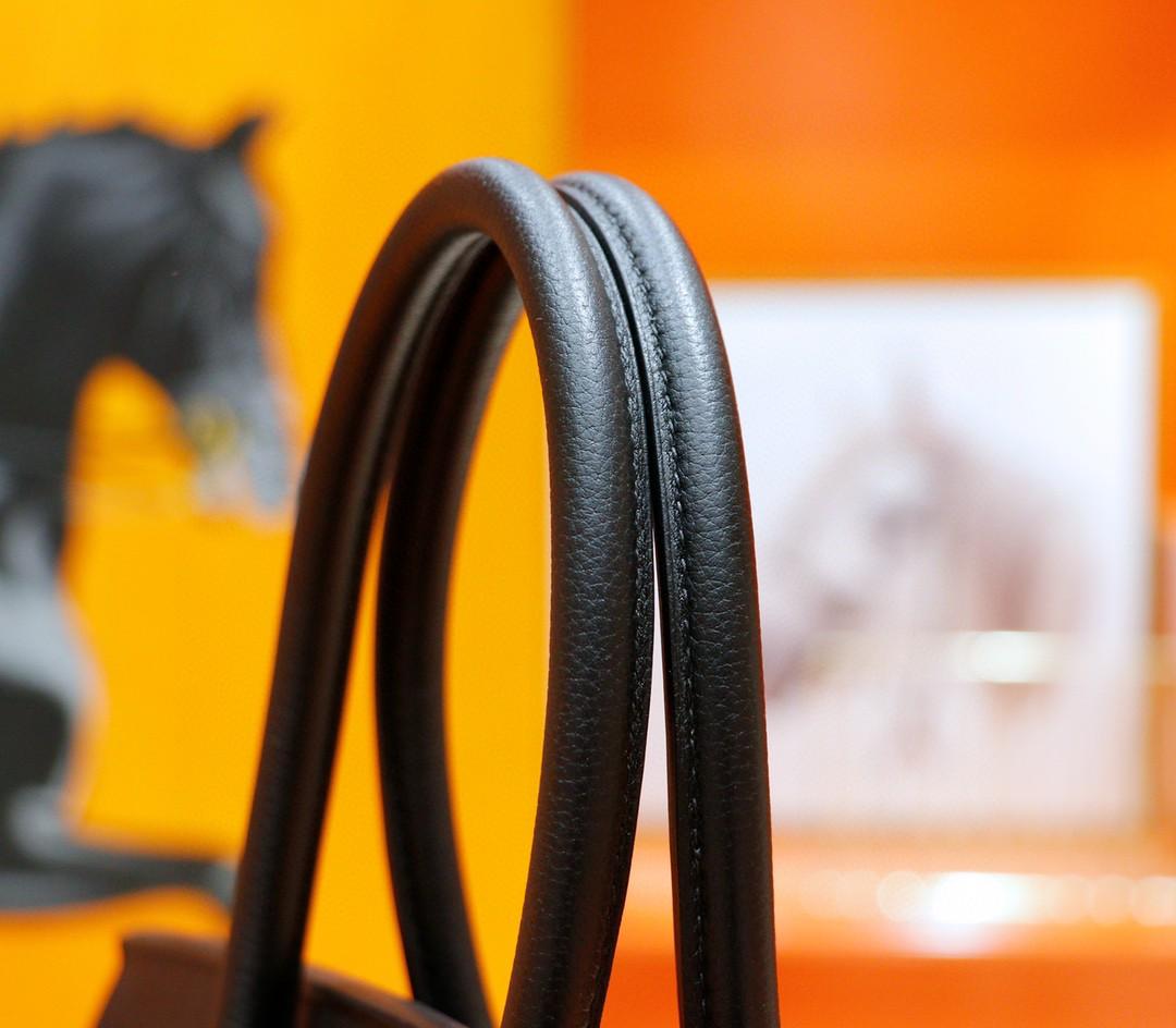 Hermès(爱马仕)Birkin 铂金包 黑色 Togo 全手缝 银扣 42cm