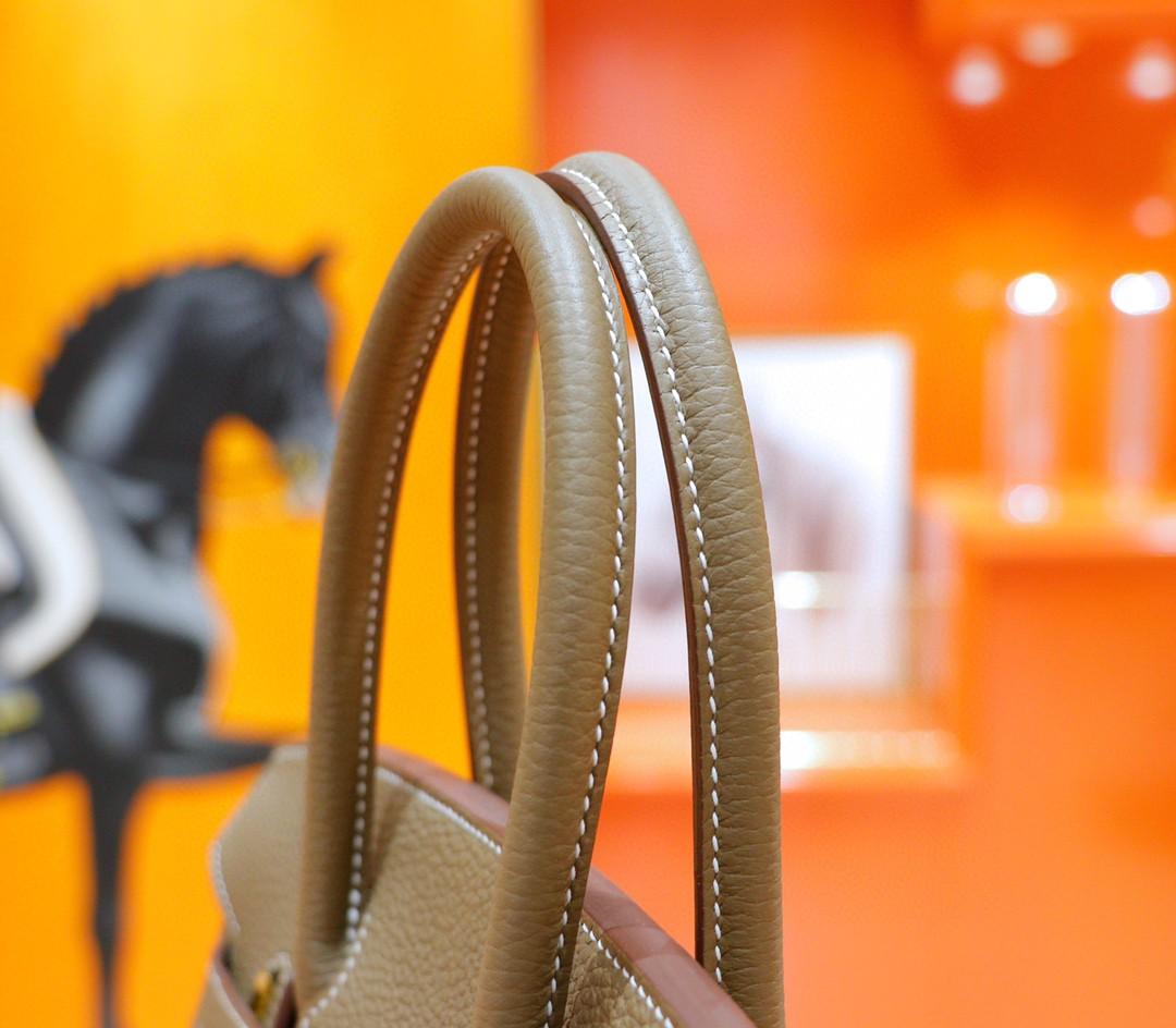 Hermès(爱马仕)Birkin 铂金包 大象灰 Togo 全手缝 金扣 30cm