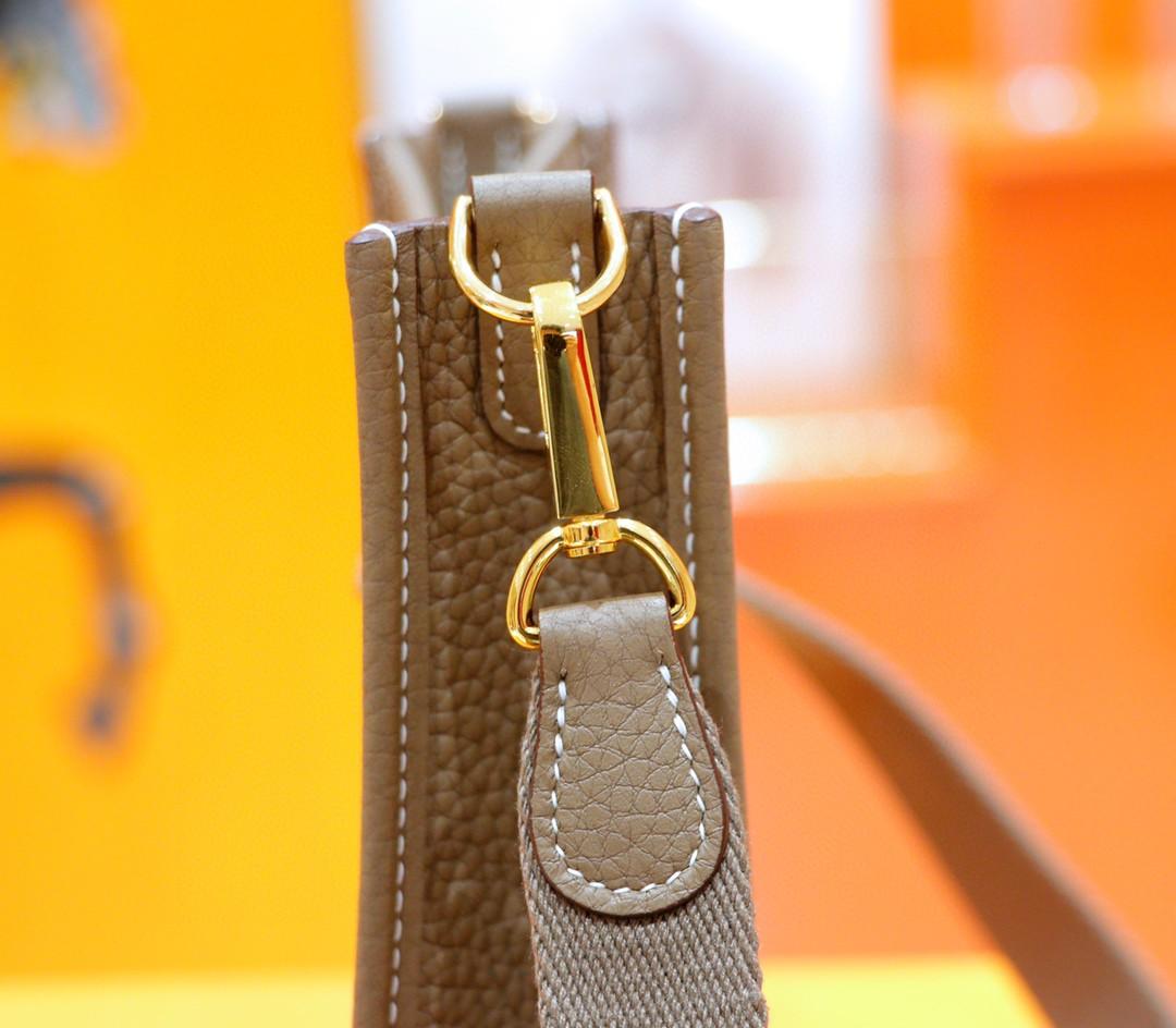 Hermès(爱马仕)Evelyne 伊芙琳 大象灰 Togo 全手缝 金扣 17cm