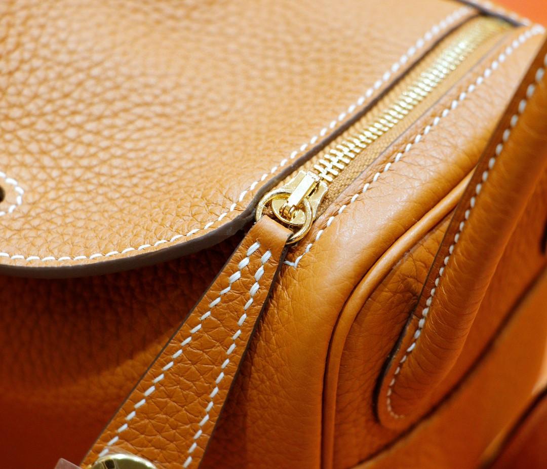 Hermès(爱马仕)Lindy 琳迪包 金棕 Togo 全手缝 金扣 20cm