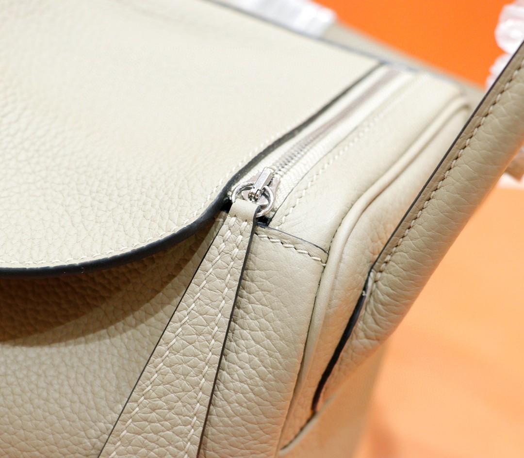 Hermès(爱马仕)Lindy 琳迪包 斑鸠灰 Togo 全手缝 银扣 26cm
