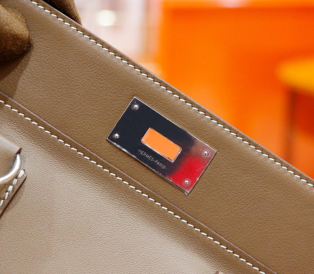 Hermès(爱马仕)Toolbox 商务通勤包 大象灰 Swift 全手缝 银扣 27cm