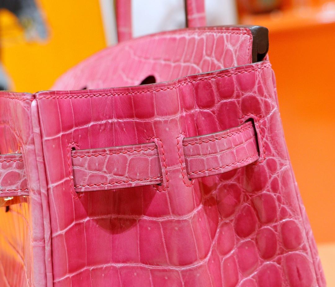Hermès(爱马仕)Birkin 铂金包 桃粉色 金扣 30cm