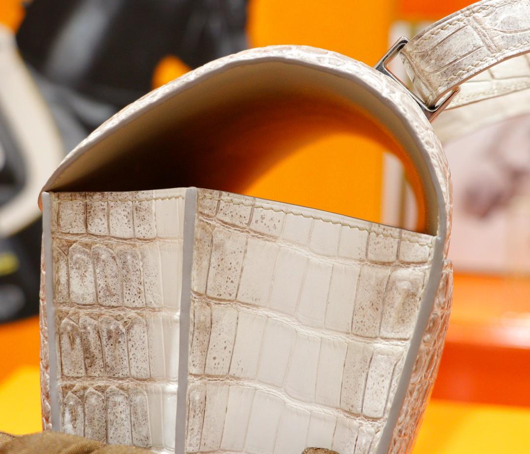 Hermès(爱马仕)Constance 空姐包 喜马拉雅 鳄鱼皮 银扣 24cm
