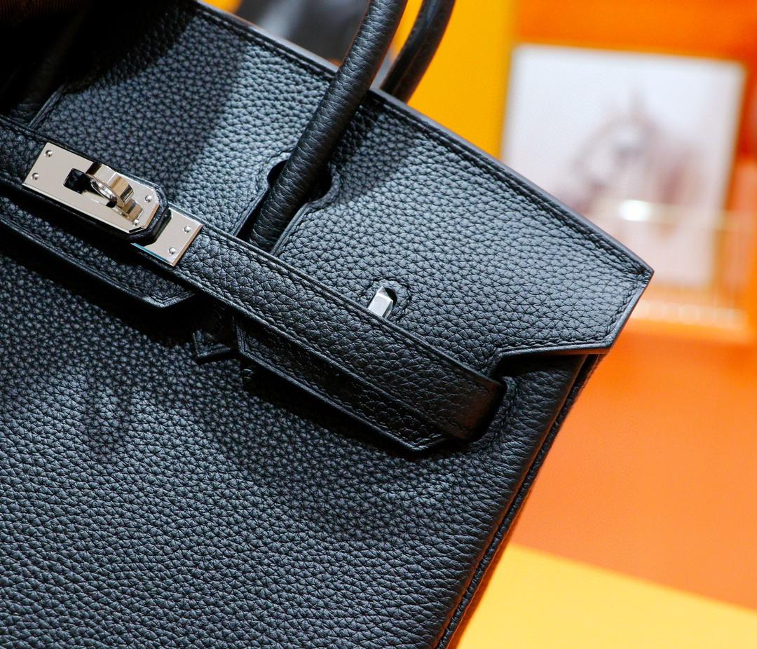 Hermès(爱马仕)Birkin 铂金包 黑色 Togo 全手缝 银扣 25cm