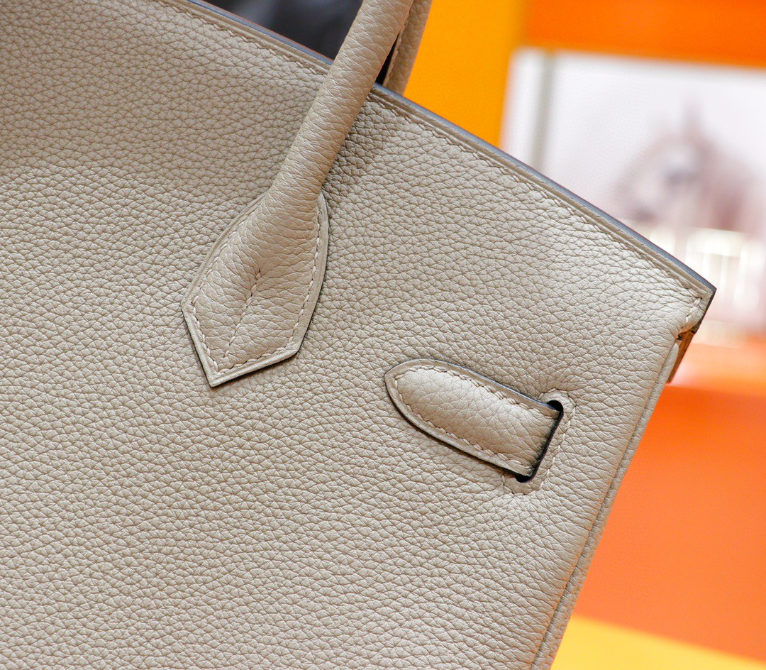 Hermès(爱马仕)Birkin 铂金包 斑鸠灰 Togo 全手缝 玫瑰金扣 30cm