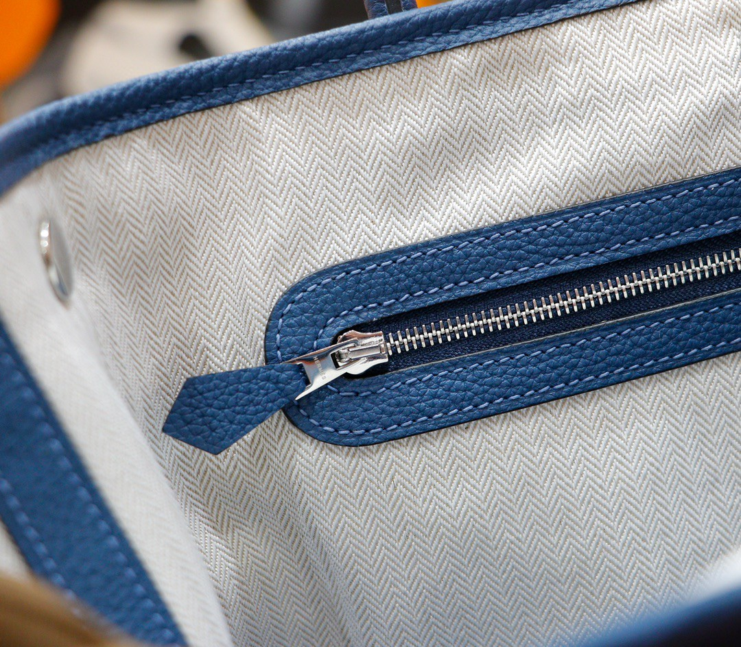 Hermès(爱马仕)Garden party 花园包 玛瑙蓝 Togo 全手缝 银扣 30cm