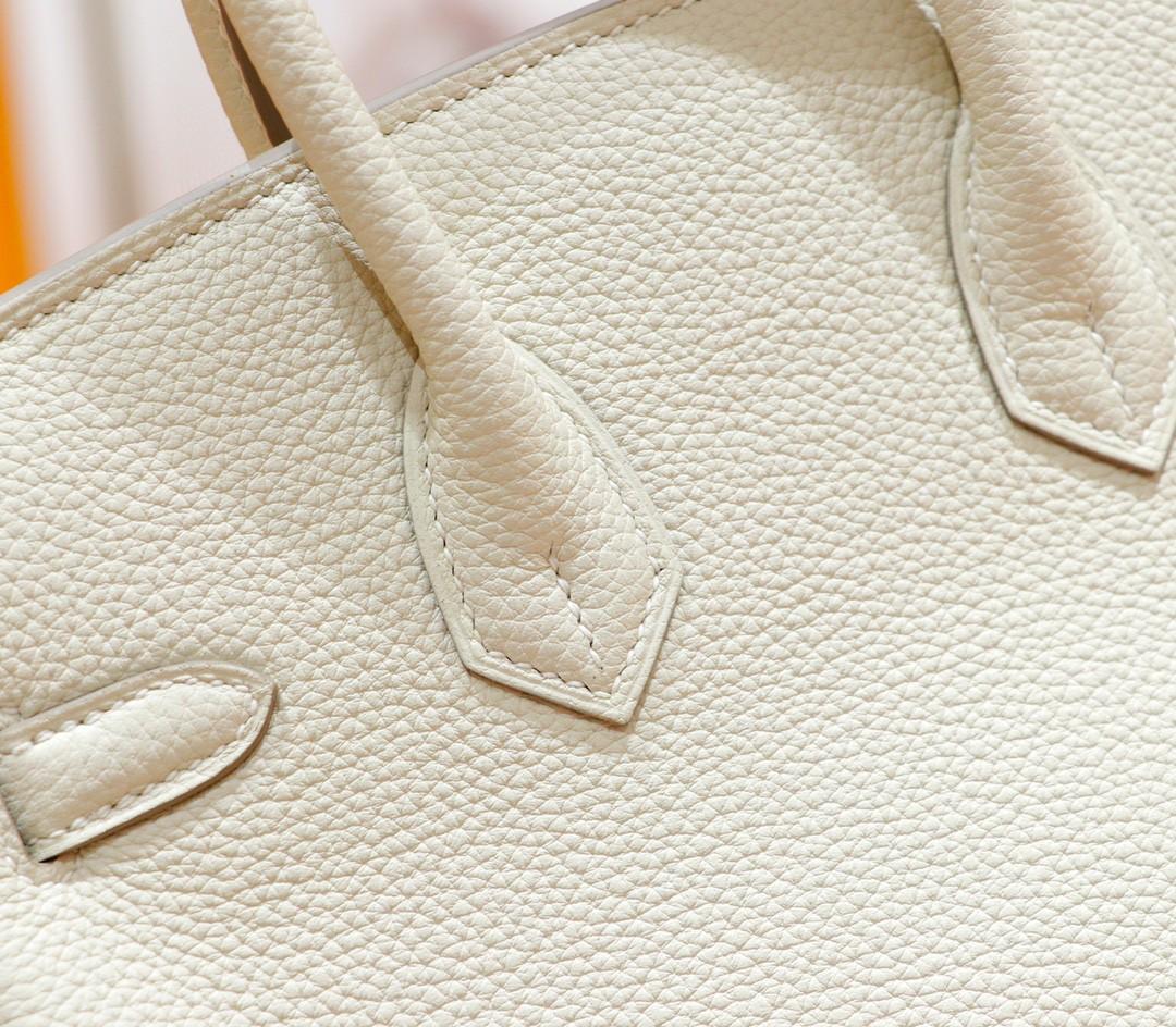 Hermès(爱马仕)Birkin 铂金包 奶昔白 Togo 全手缝 金扣 25cm
