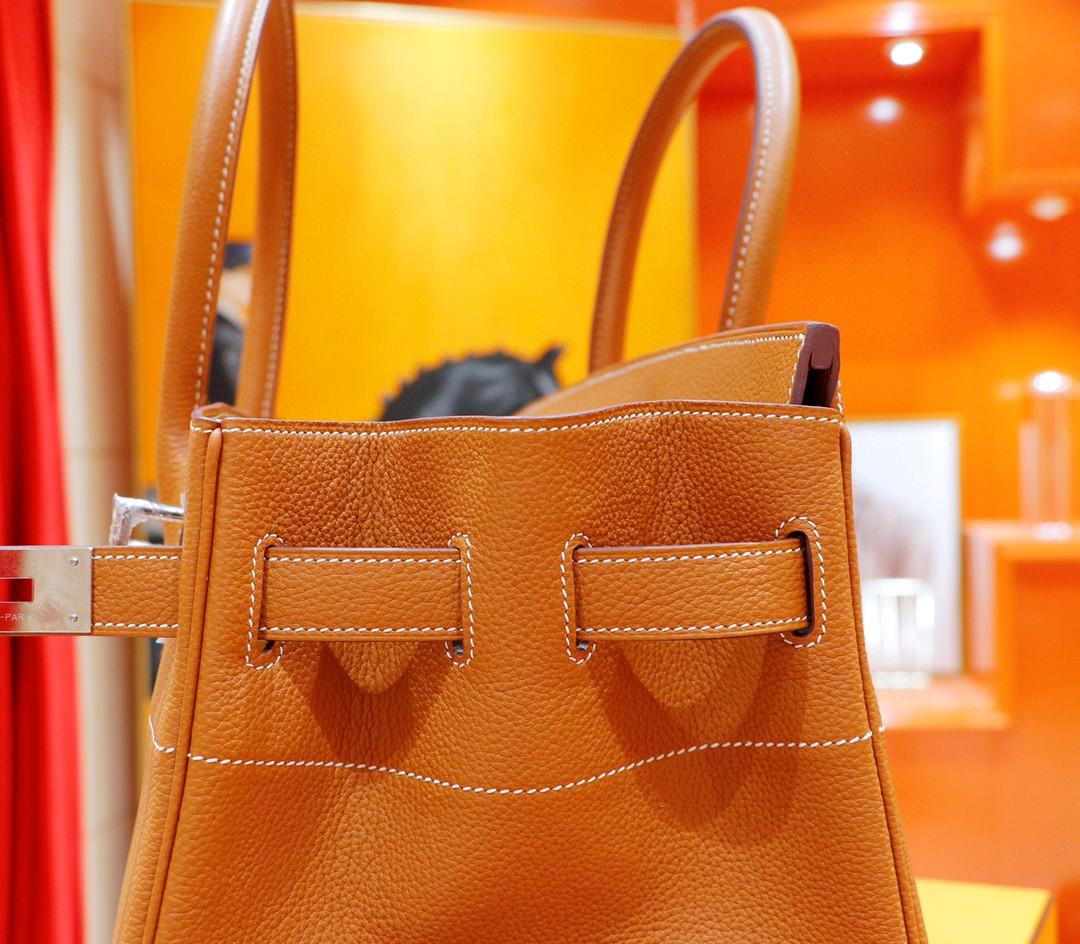Hermès(爱马仕)Birkin 铂金包 金棕 Togo 全手缝 银扣 42cm