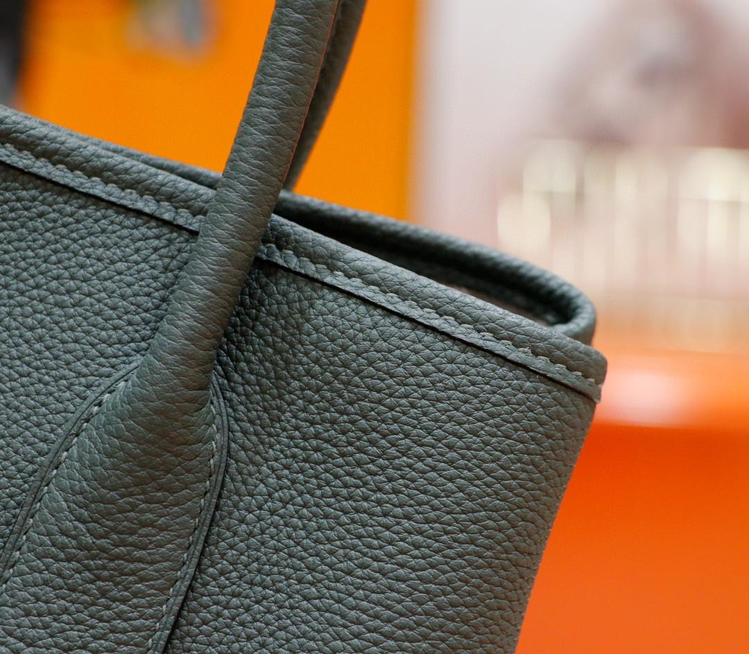 Hermès(爱马仕)Garden party 花园包 杏仁绿 Togo 全手缝 银扣 30cm