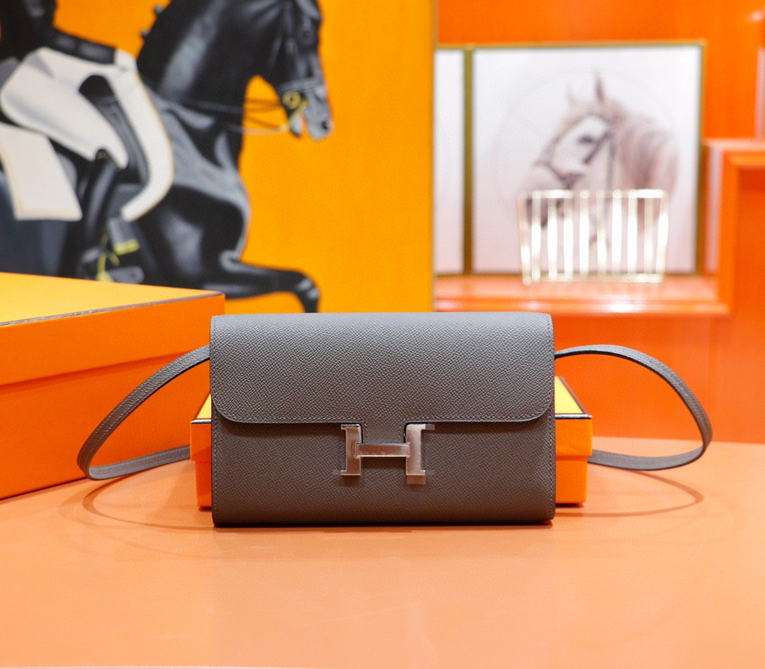 Hermès(爱马仕)Constance ToGo 锡器灰 Epsom 全手缝 银扣